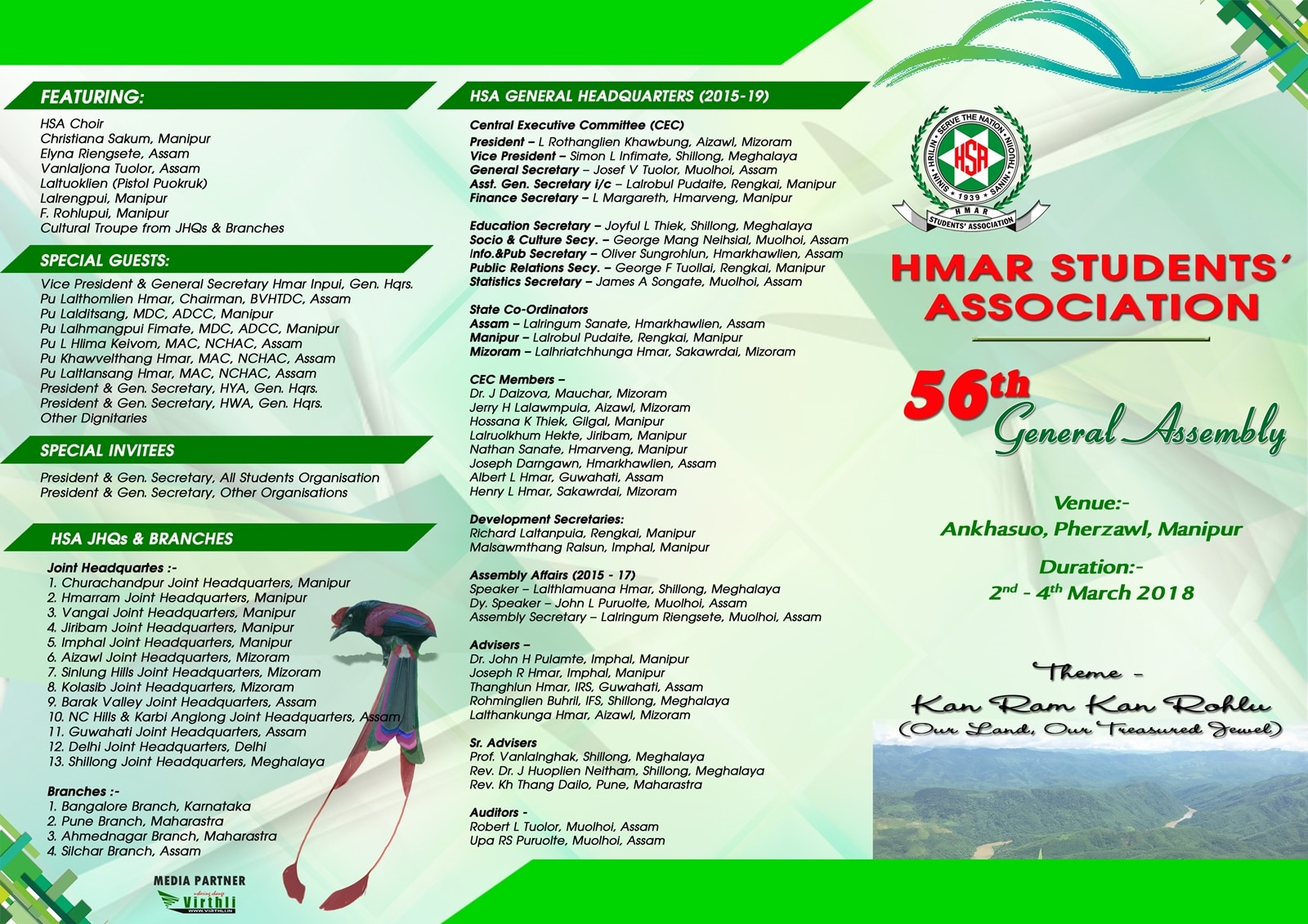 56th HSA General Assembly Programme 1