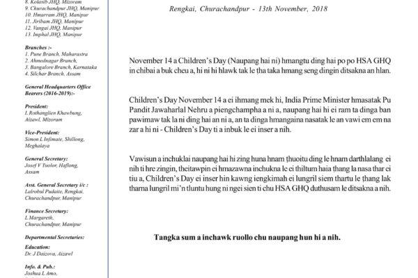 CHILDREN'S DAY CHIBAI BUKNA